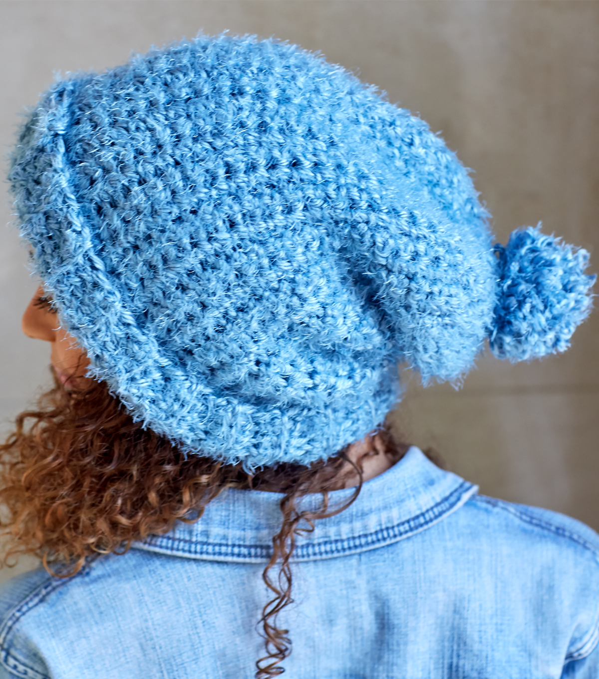 How To Make A Red Heart Hygge Simply Slouchy Crochet Hat Joann