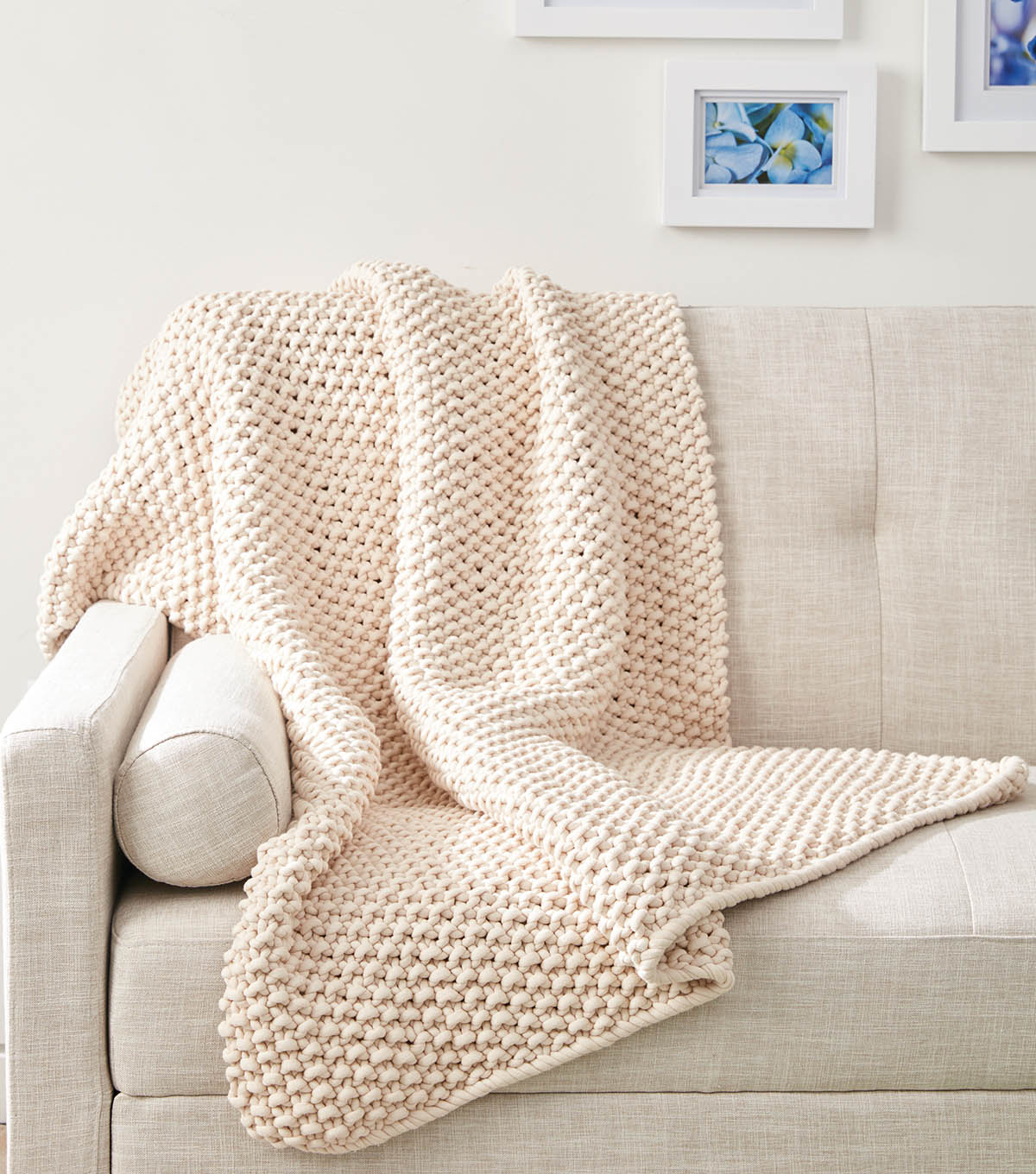 How to Make A Knit Seed Stitch Throw | JOANN