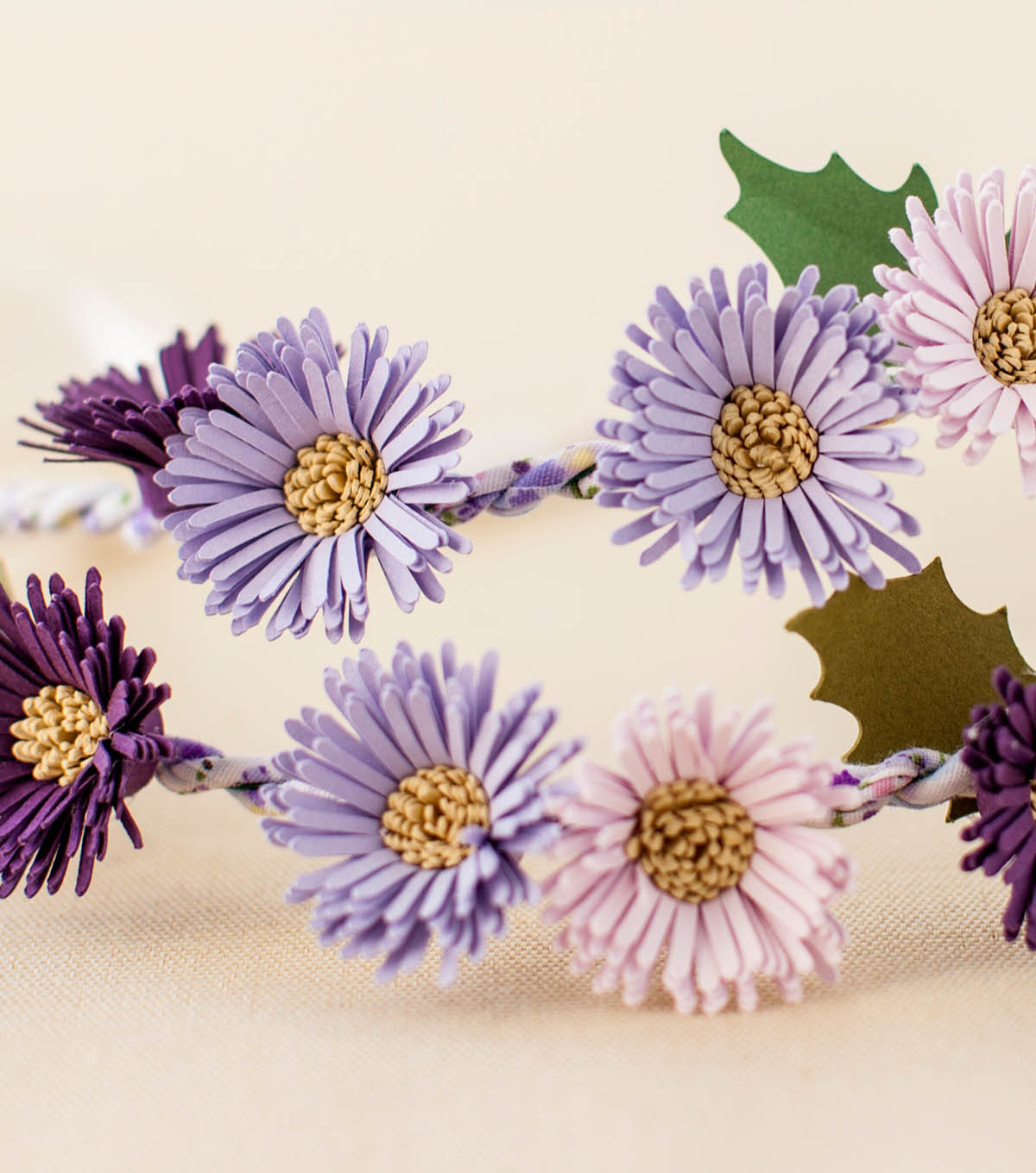 How To Make A Purple Aster Flower Crown Joann