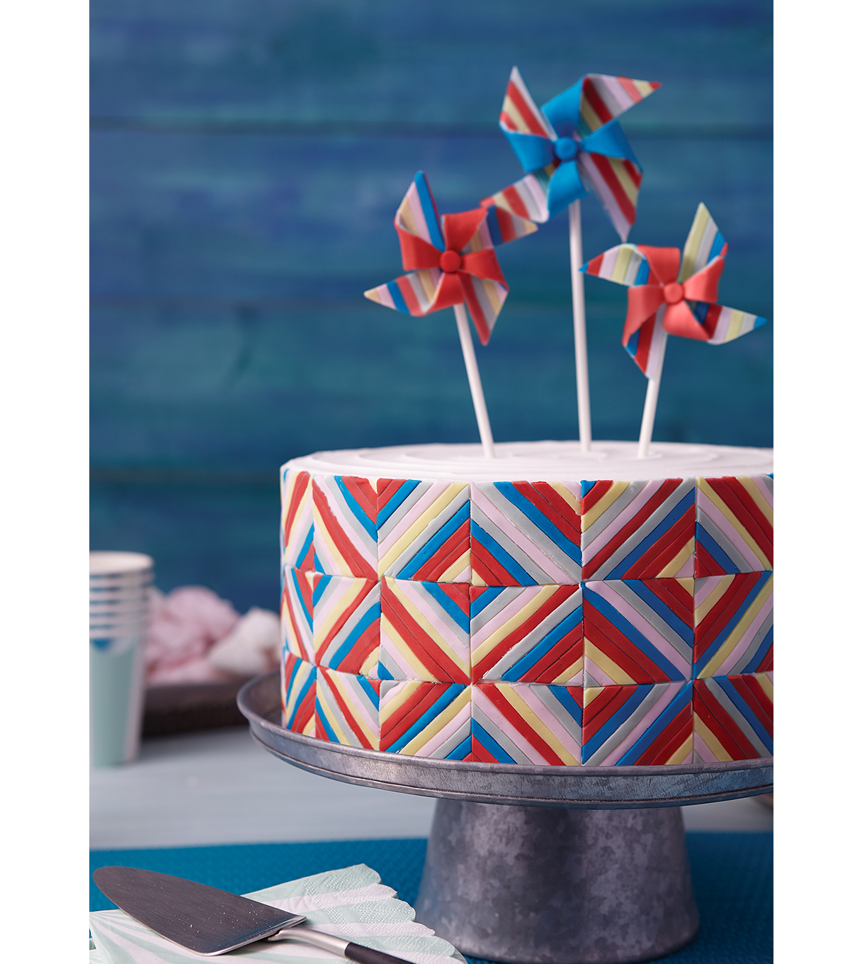 How To Make A Pinwheel Quilt Cake