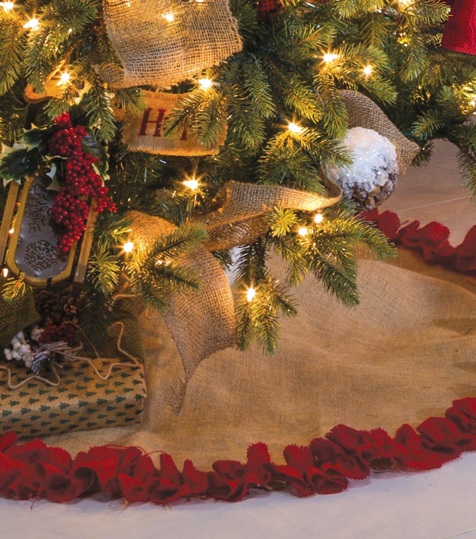 Burlap Christmas Tree Skirt