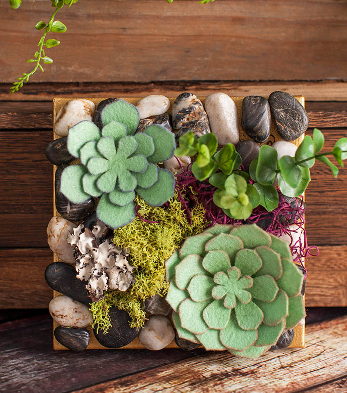 How To Make A Hanging Felt Succulent Garden