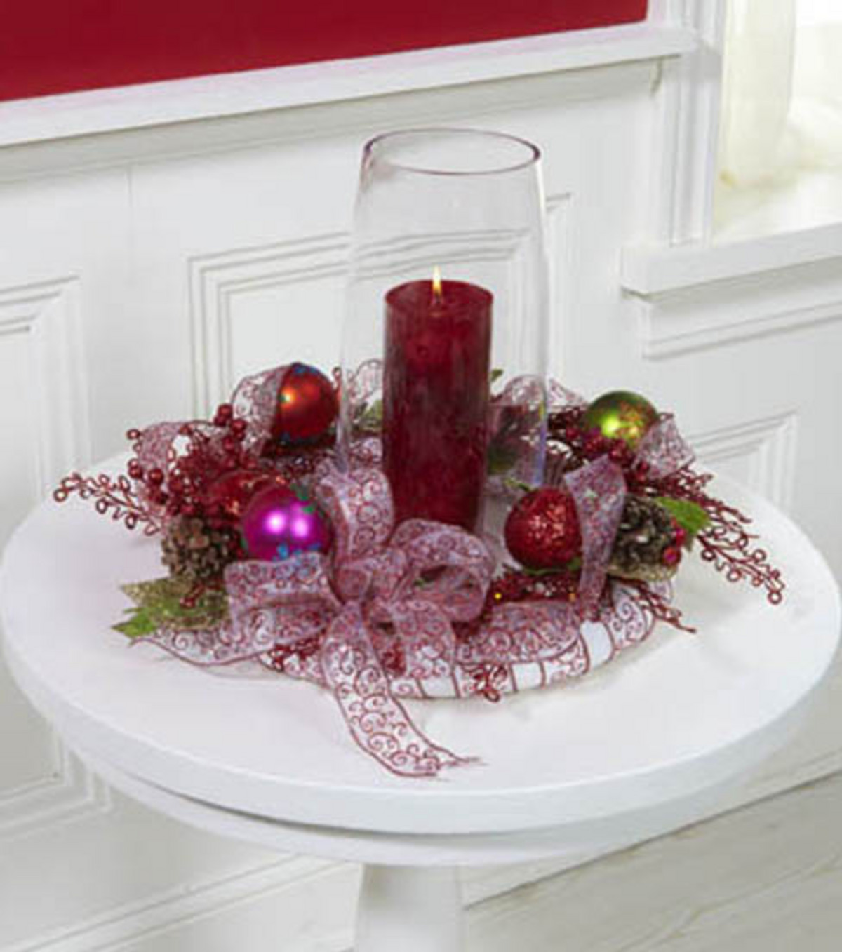 christmas candle ring - Decorative Christmas Candle Rings