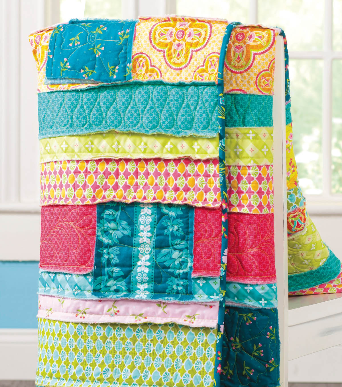Jo Ann Fabrics And Crafts Mall: Frayed Strips And Patches Quilt