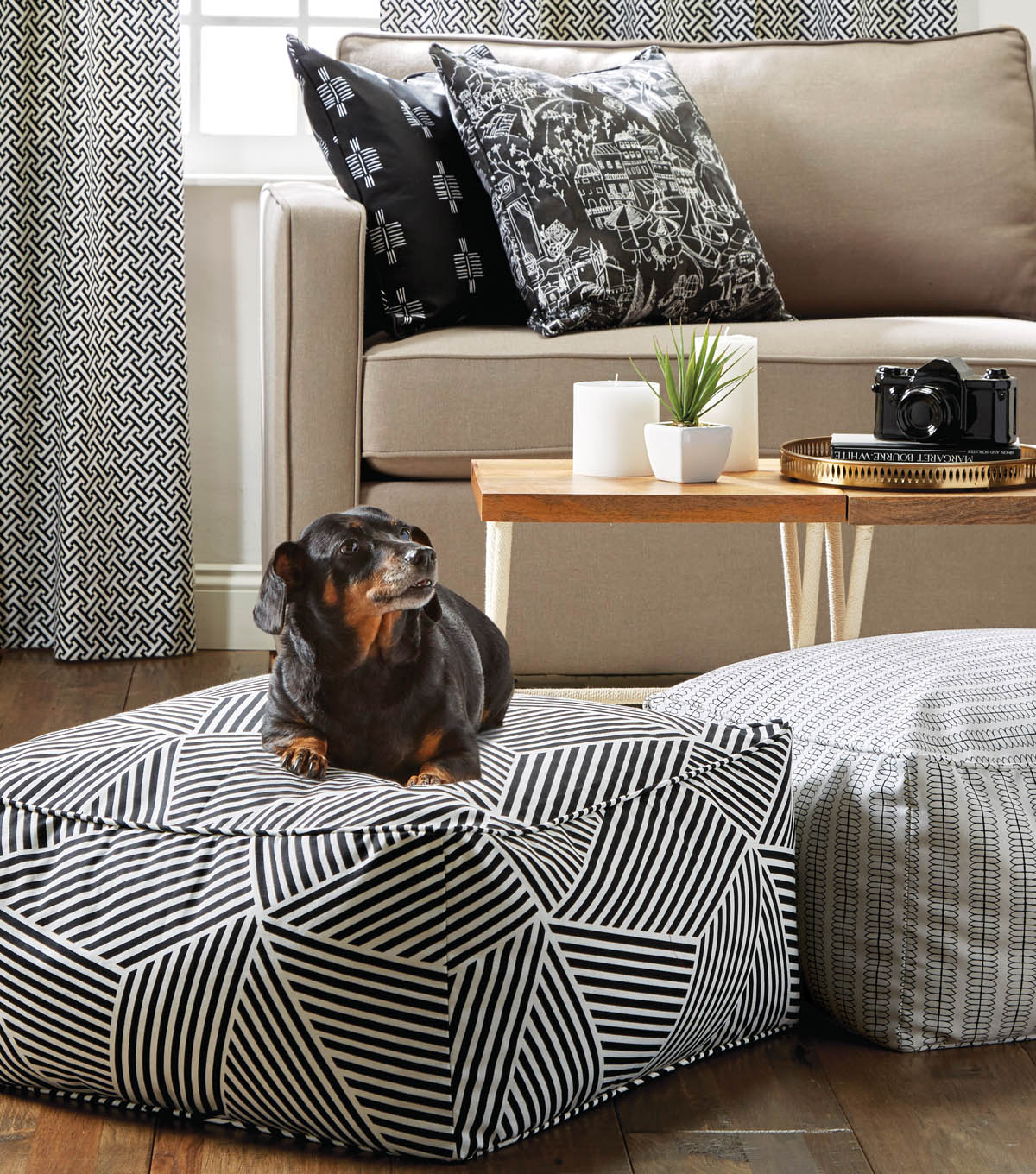 Wonderful Sewing Ideas For Home Decorating Part - 9: How To Make A 24u201d Fabric Pouf