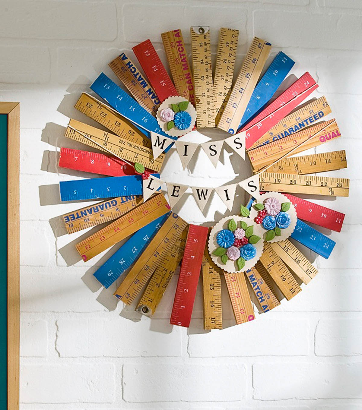 Teacher Ruler Wreath