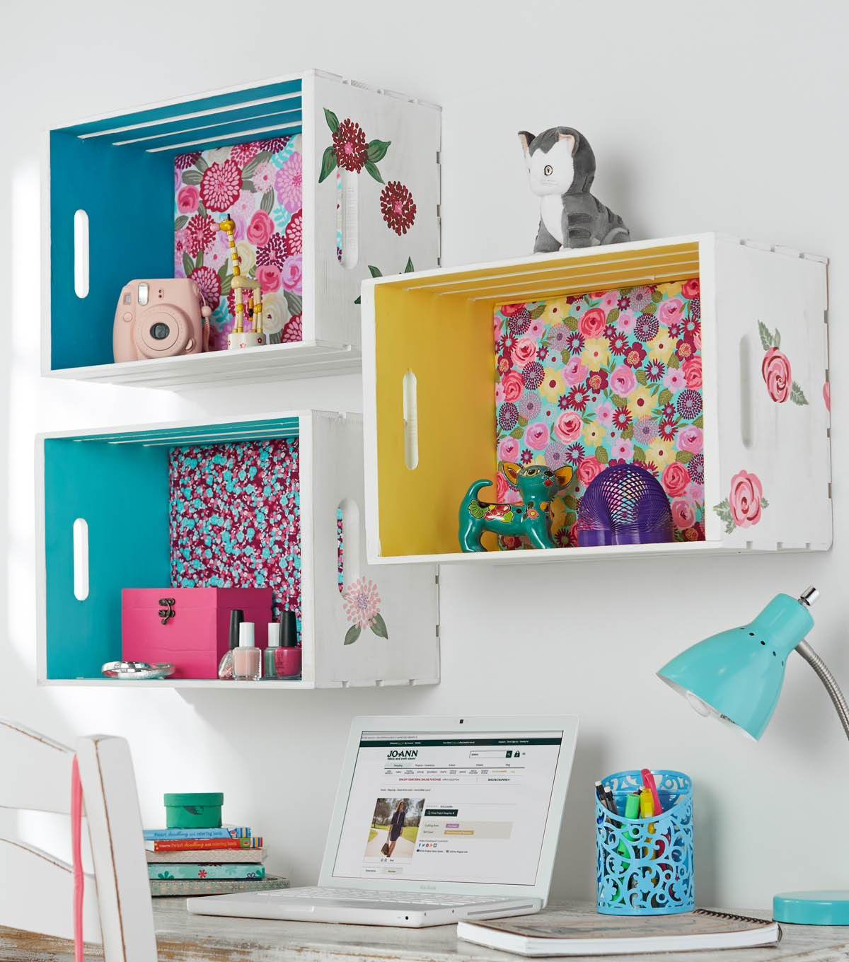 aa5b5879 How To Make A Crate Shelf With Fabric Back And Painted Sides   JOANN