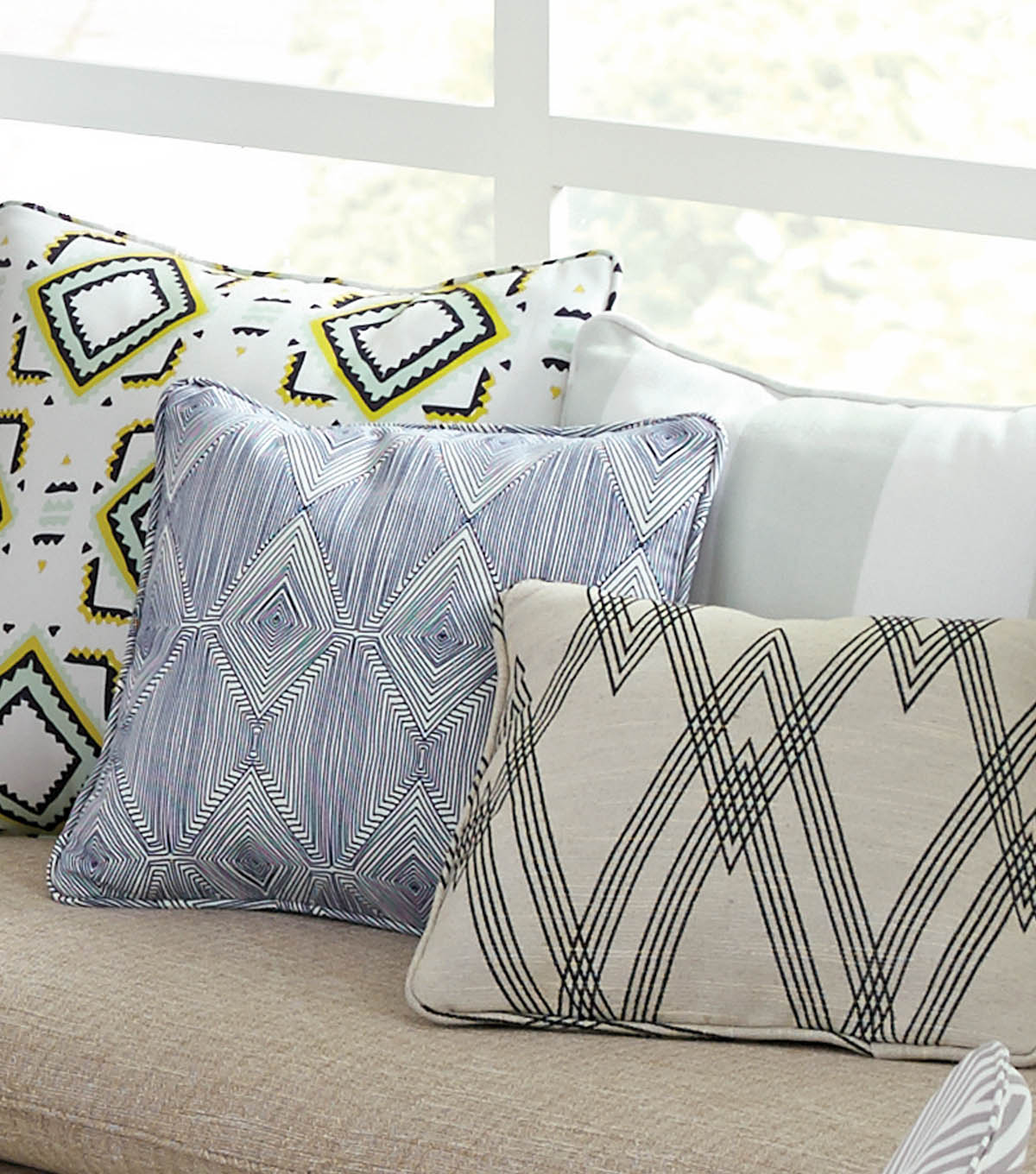 Envelope Back Pillows with Cording