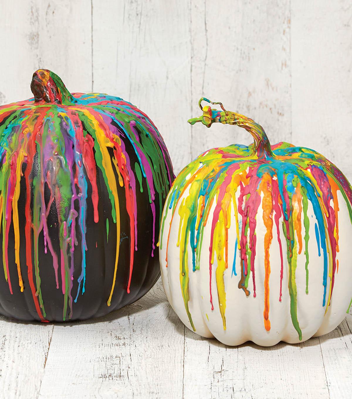 crayon dripped pumpkin joann