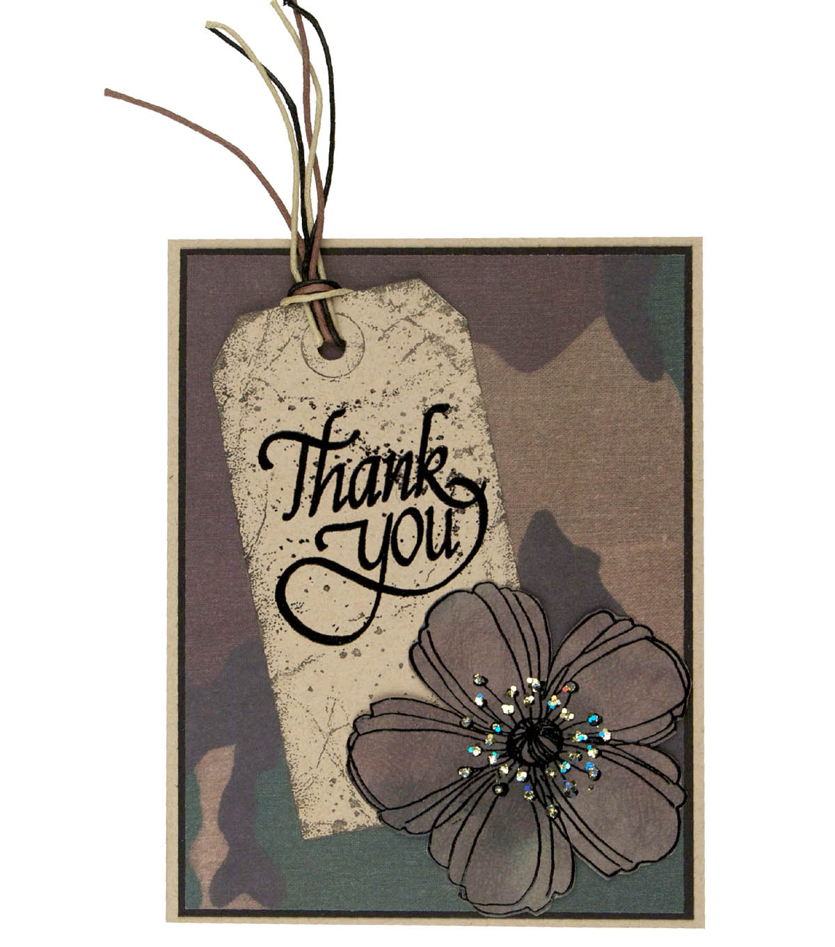 Camouflage Thank You Card