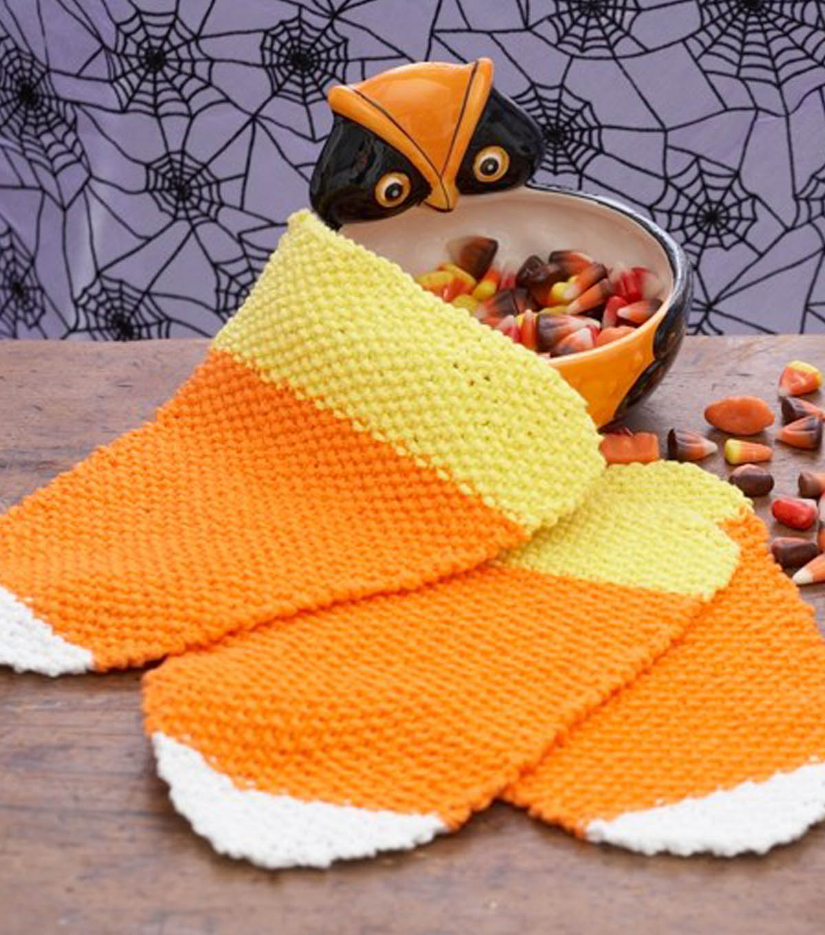 Candy Corn Dishcloth