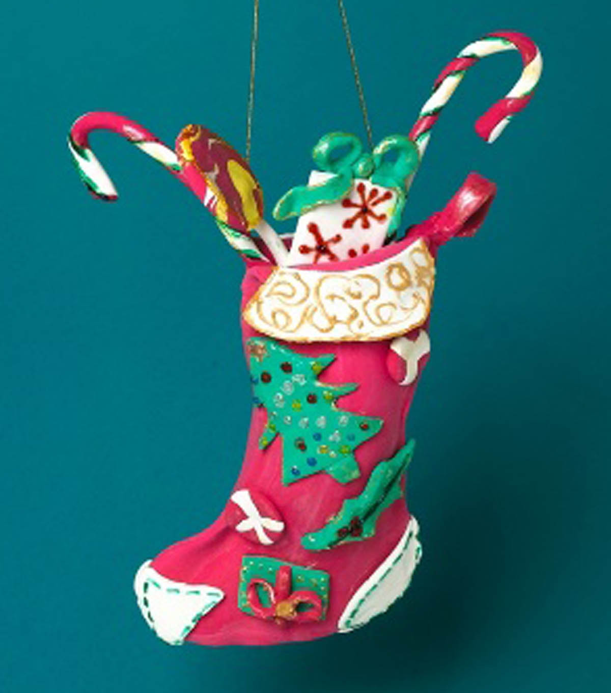 learn to make a christmas door stocking - How To Make A Christmas Stocking