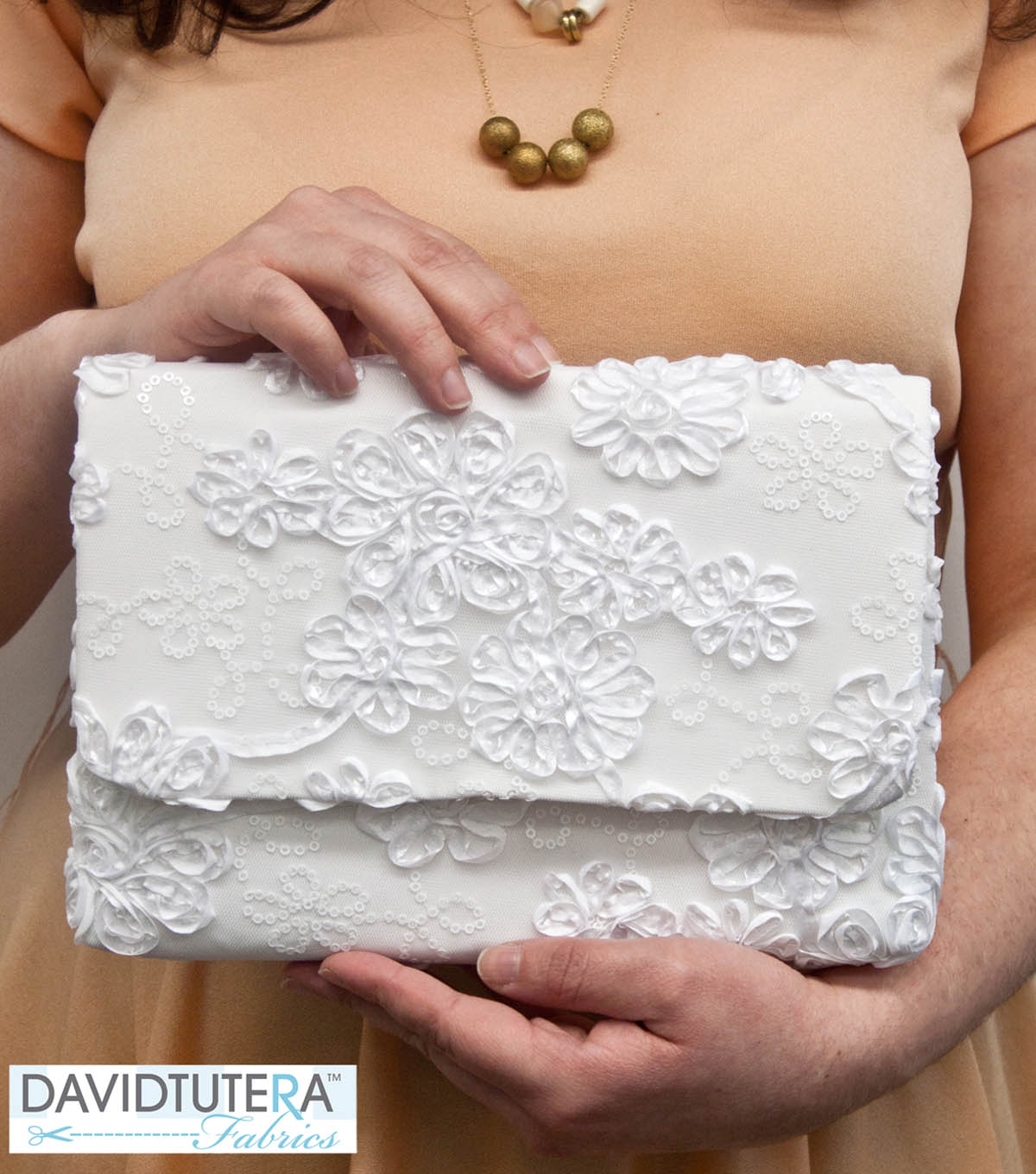 David Tutera Fabrics Lace Clutch