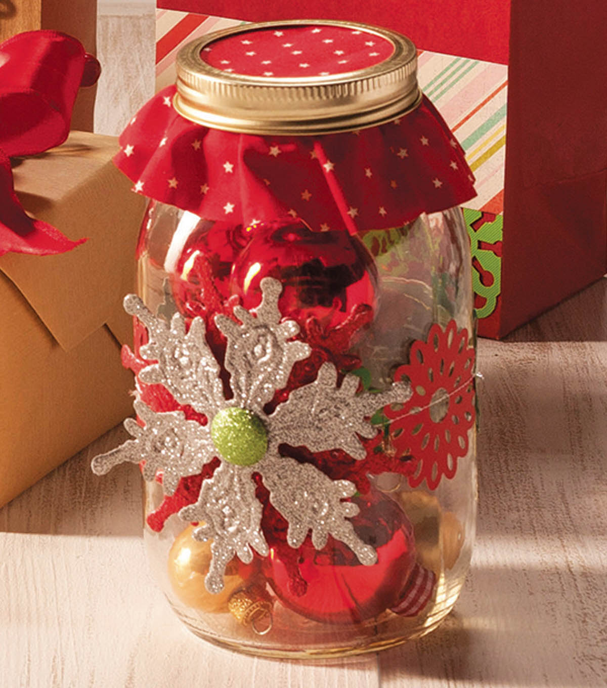 Snowflake Ornament Mason Jar