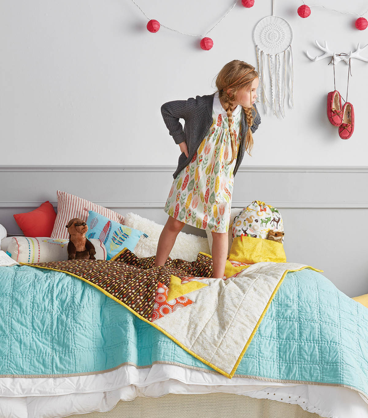 Whimsical Quilt, Dress and Backpack