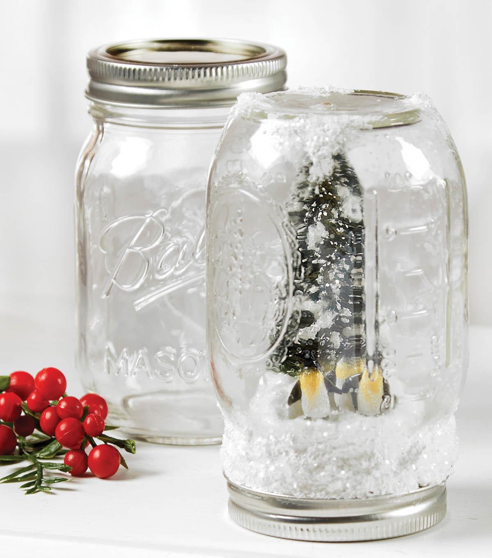 how to make a mason jar snow globe joann