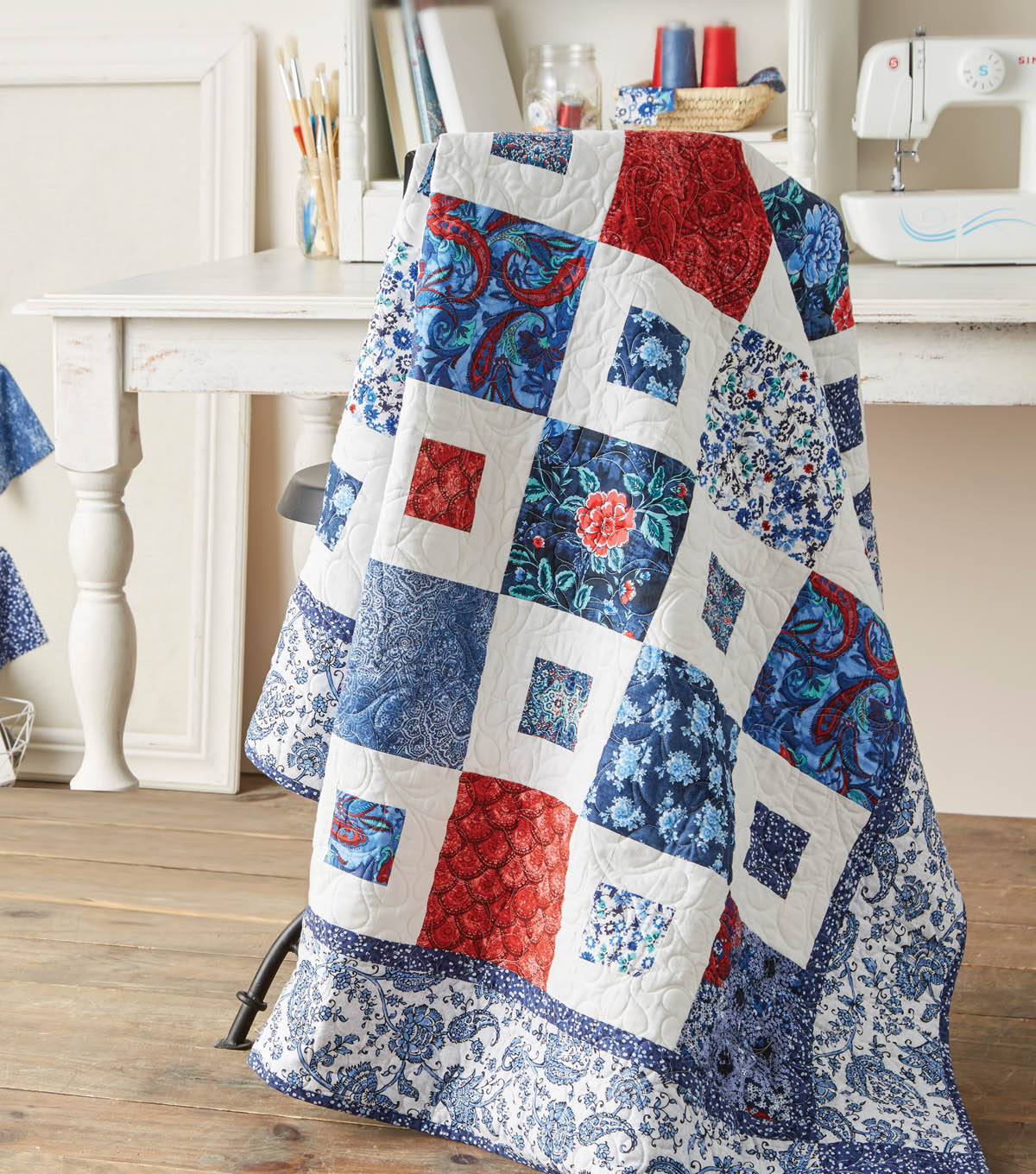 Jo Ann Fabrics And Crafts Mall: Red, White And Blue Quilt