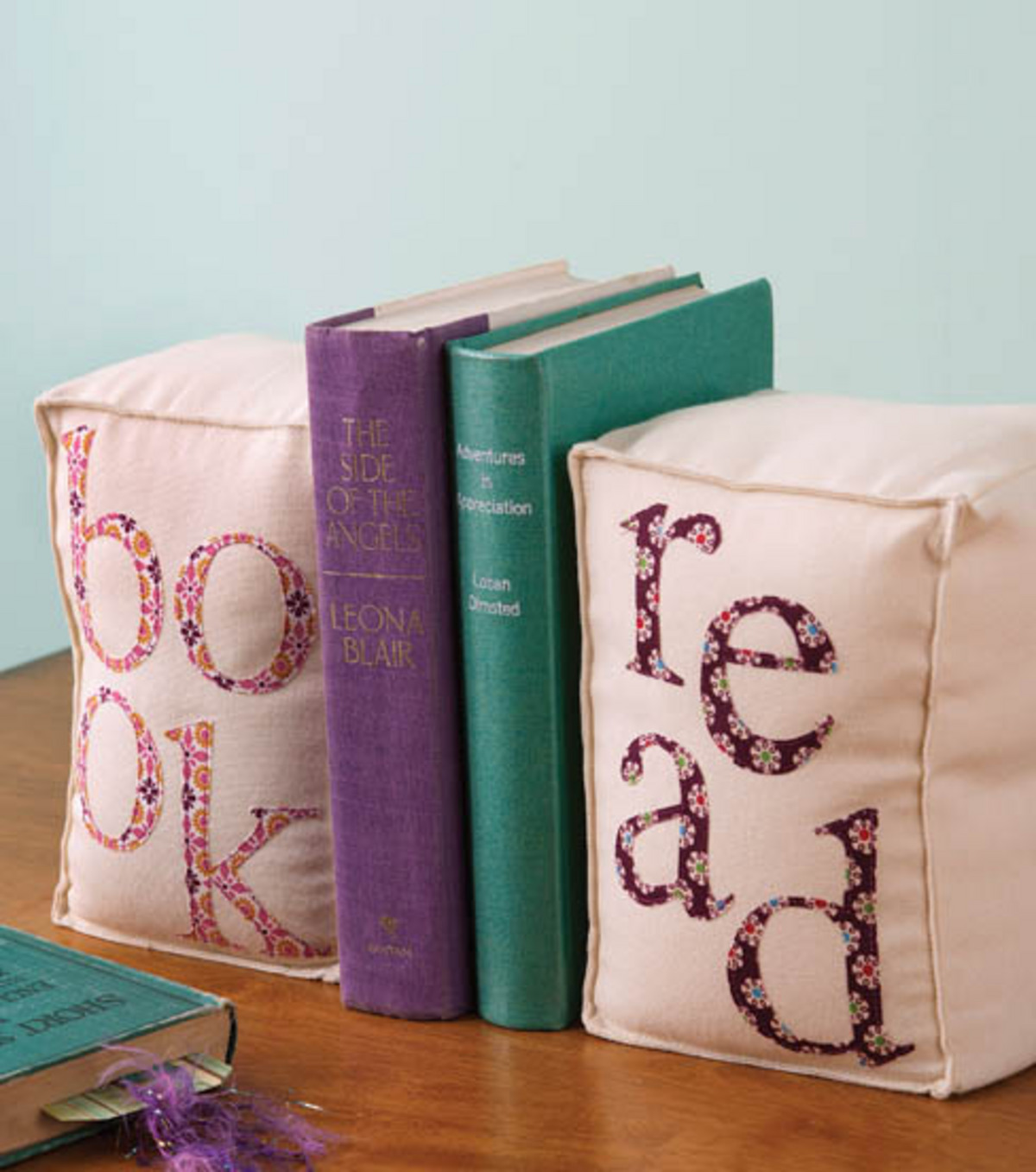 Appliqued Bookends