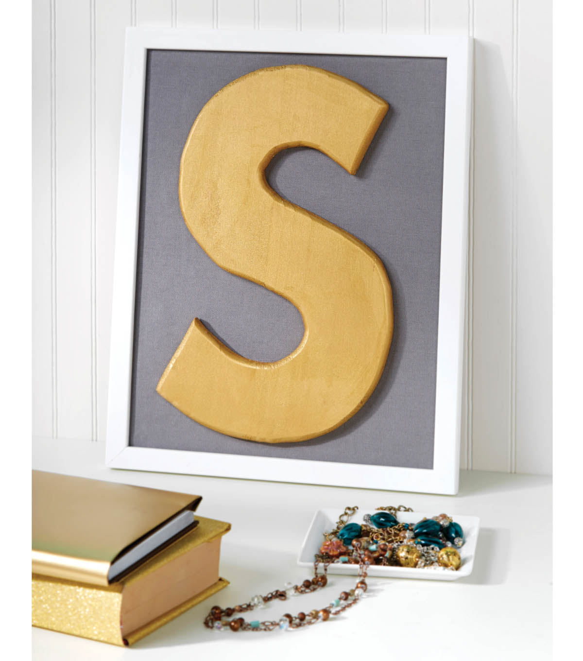 Metallic Monogram Wall Art