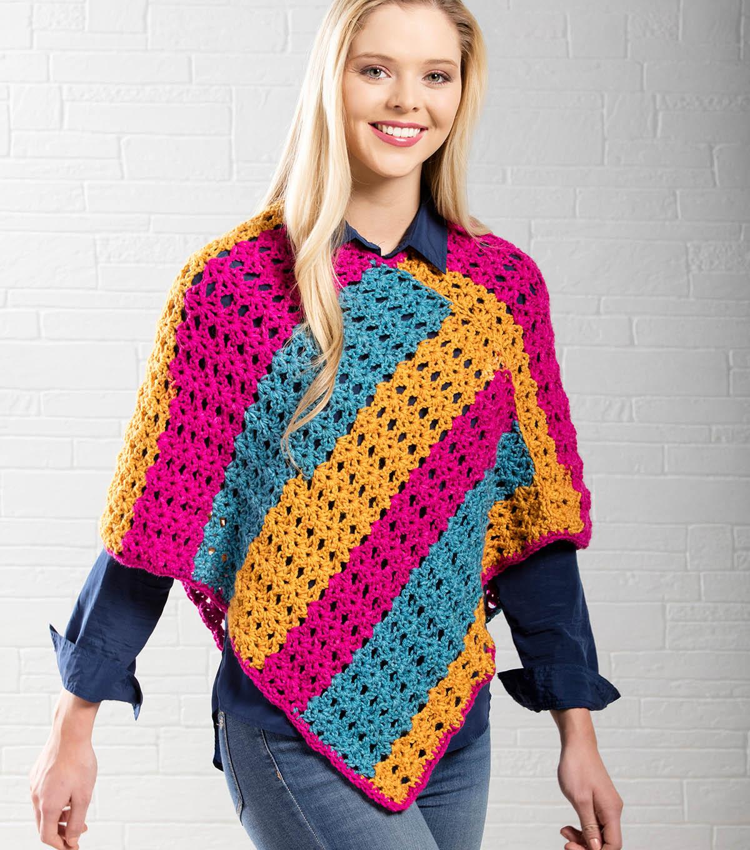 How To Make A Star Stitch Crochet Poncho   JOANN
