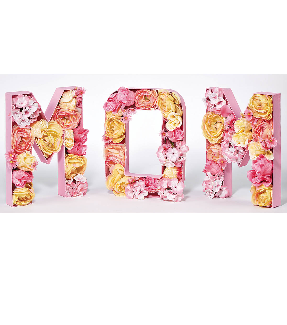 Paper Mache Floral Mom Letters  Joann