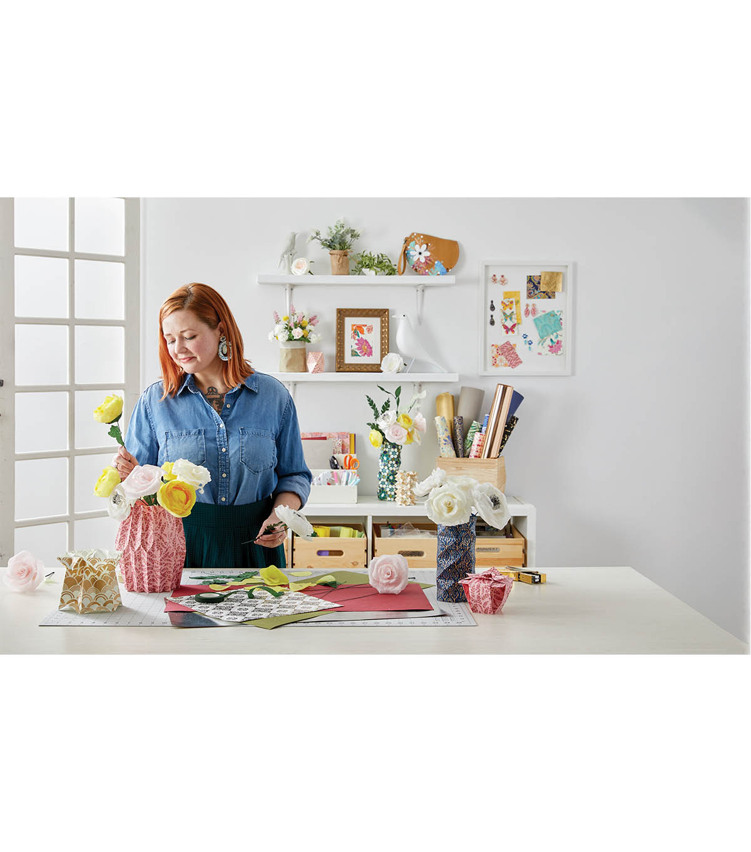 How To Make 3D Origami Vase V15 | DIY Paper Vase Home Decoration ... | 1360x1200