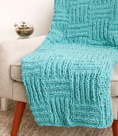 How To Make A Big Basketweave Blanket Joann