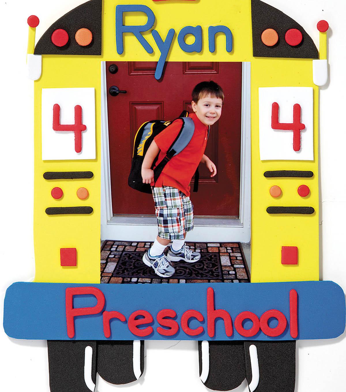 Foamies School Bus Picture Frame