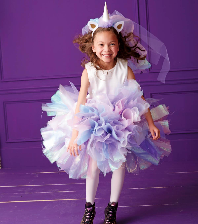 Unicorn Costume and Head Piece  sc 1 st  Joann & DIY Unicorn Costume - Kids Halloween Costumes | JOANN