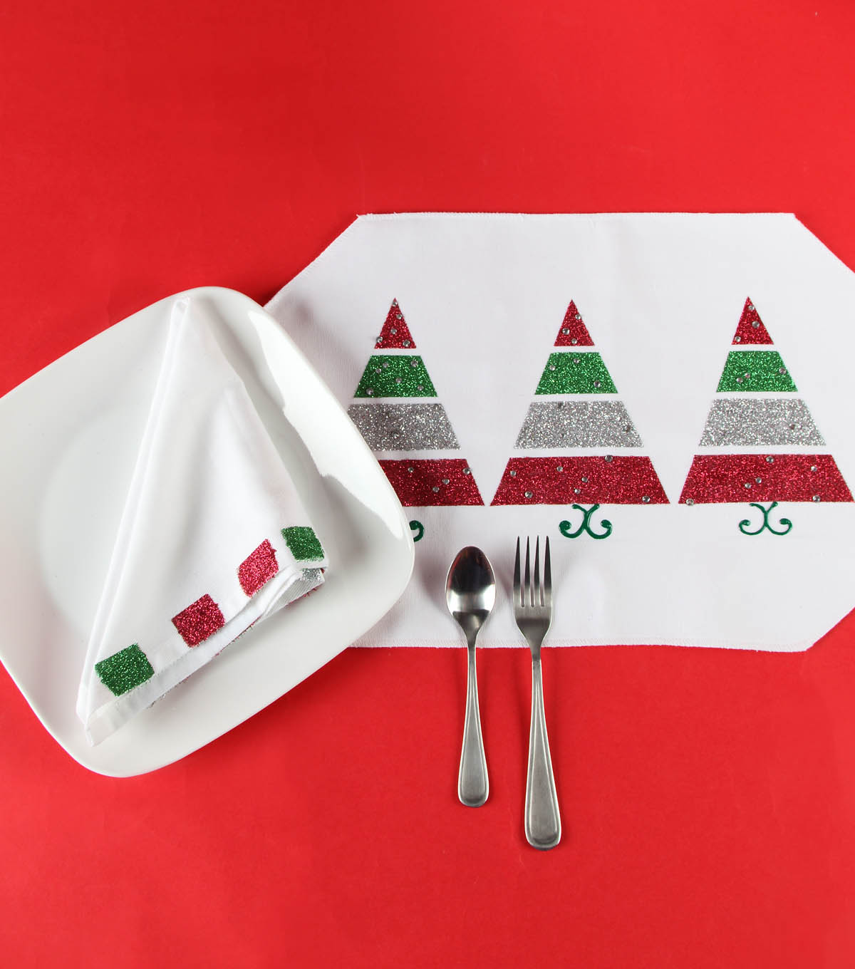 Merry and Bright Christmas Place Setting