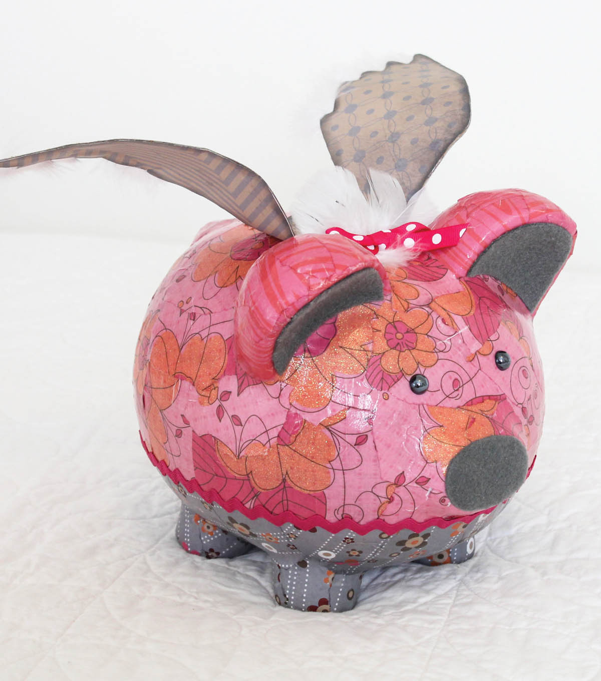Upcycle Flying Piggy Bank