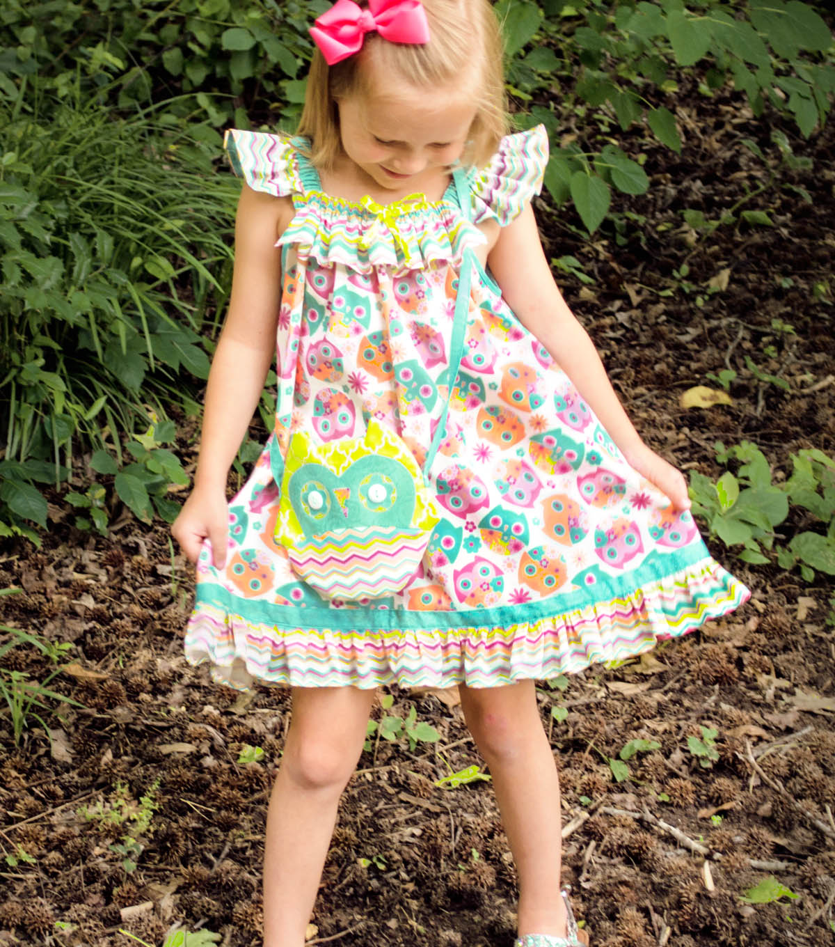Whoo\u0027s Cute Dress and Owl Bag