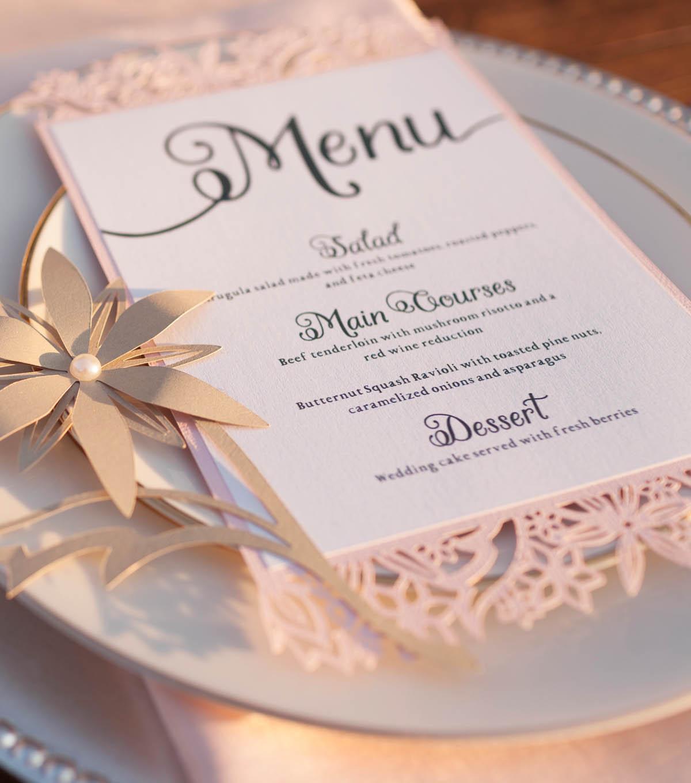 How To Make a Wedding Dinner Menu - Wedding Crafts | JOANN