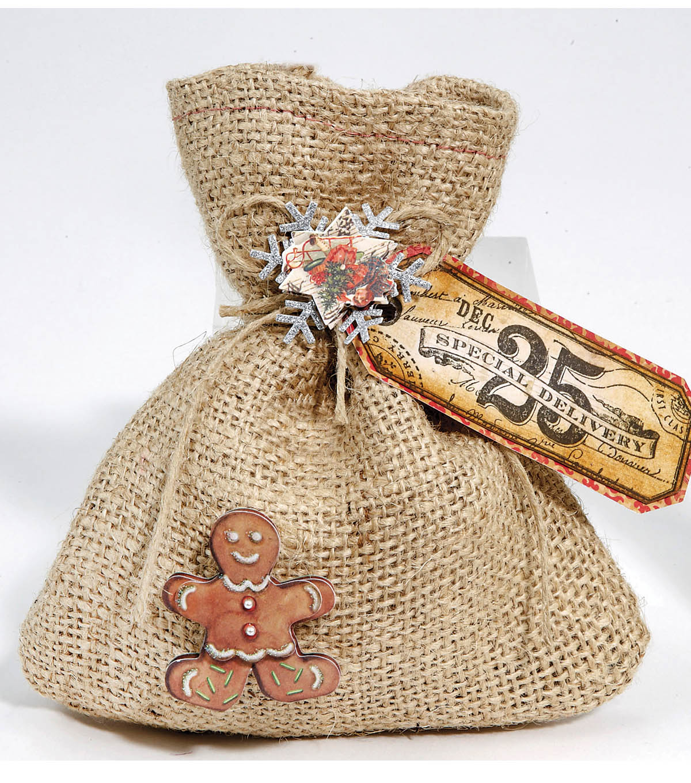 Christmas Burlap Treat Bag