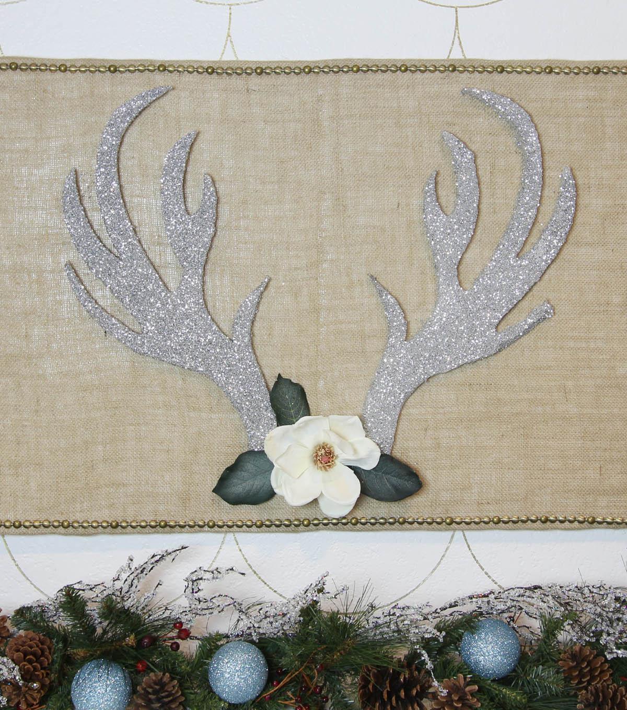 Gold Glittered Faux Deer Antler PicksSet of 6