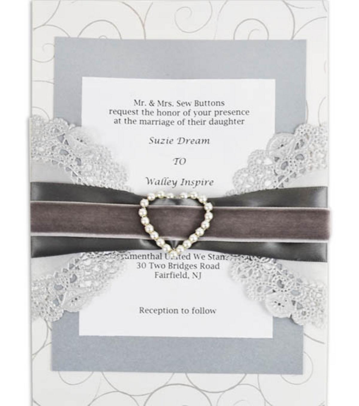 Bliss Pearl Heart Invitation | JOANN