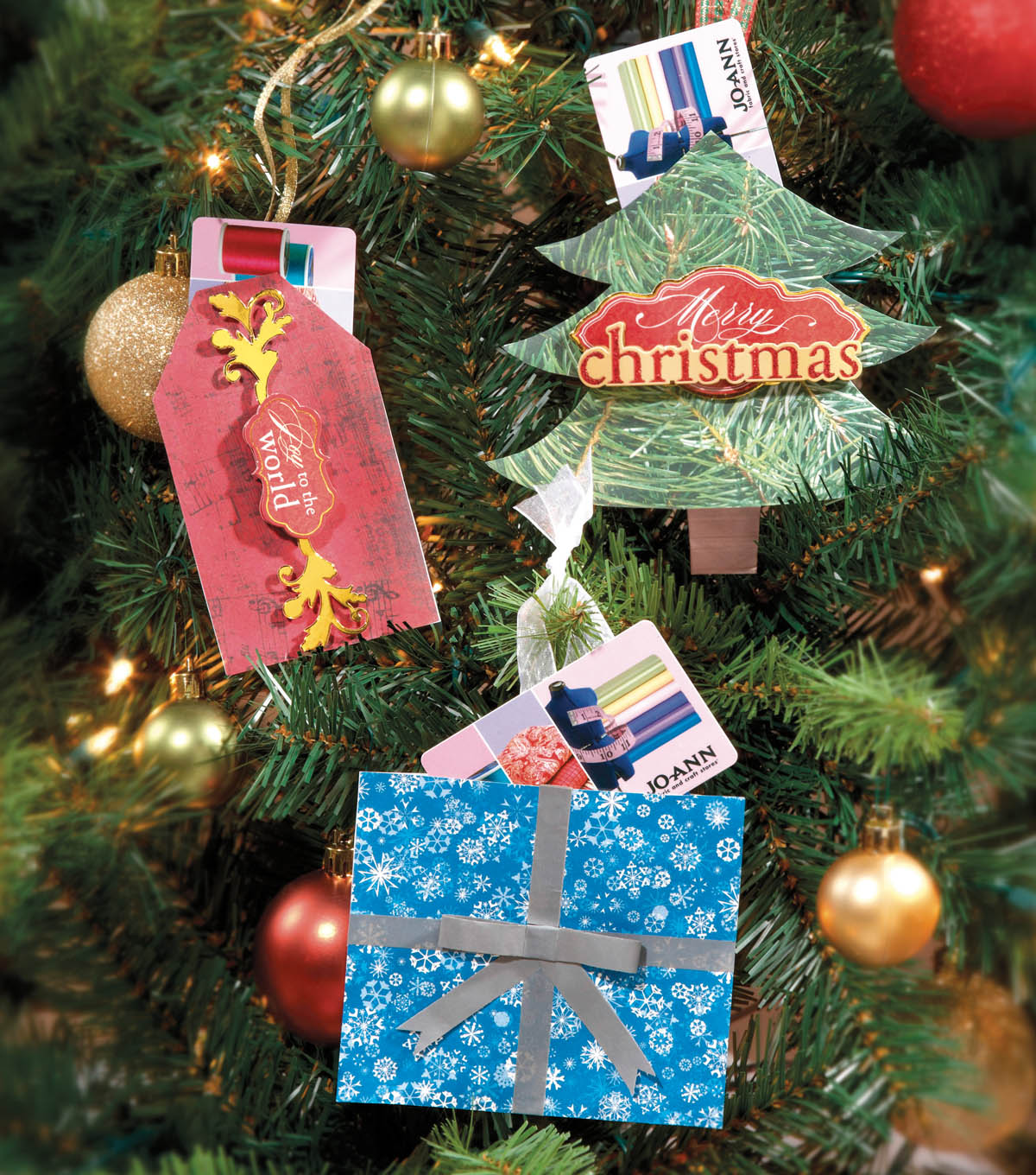 Happy Holidays Paper Gift Card Ornaments