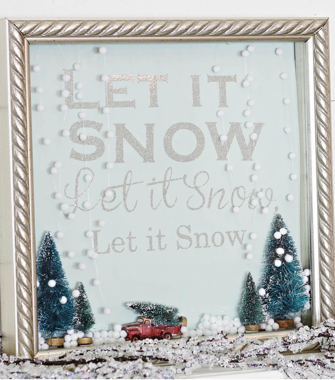 Let It Snow Shadow Box Snow Globe Joann