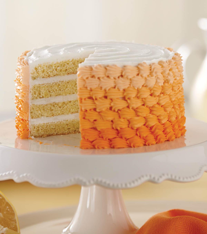 Lemony Peach Ombre Cake How To Sheet Joann
