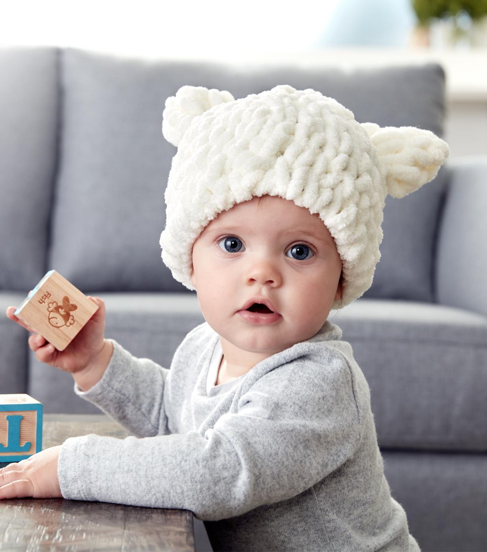 How To Make A Bernat Alize Blanket EZ Baby Bear Hat  423456bcd06