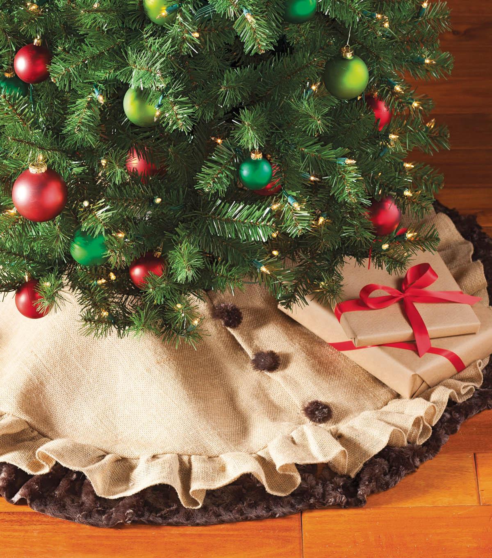 DIY Rustic Christmas Tree Skirt | JOANN