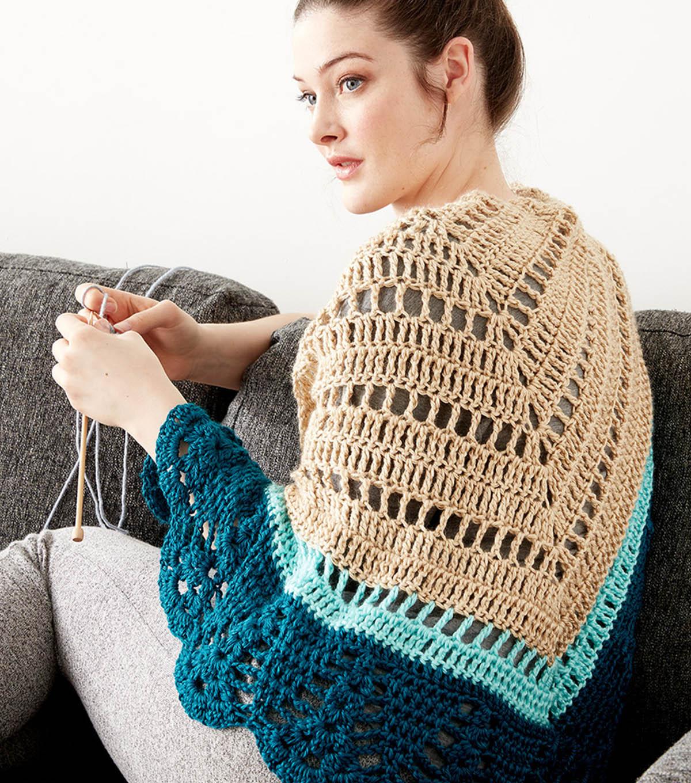 Make A Crochet Comfort Shawl Joann