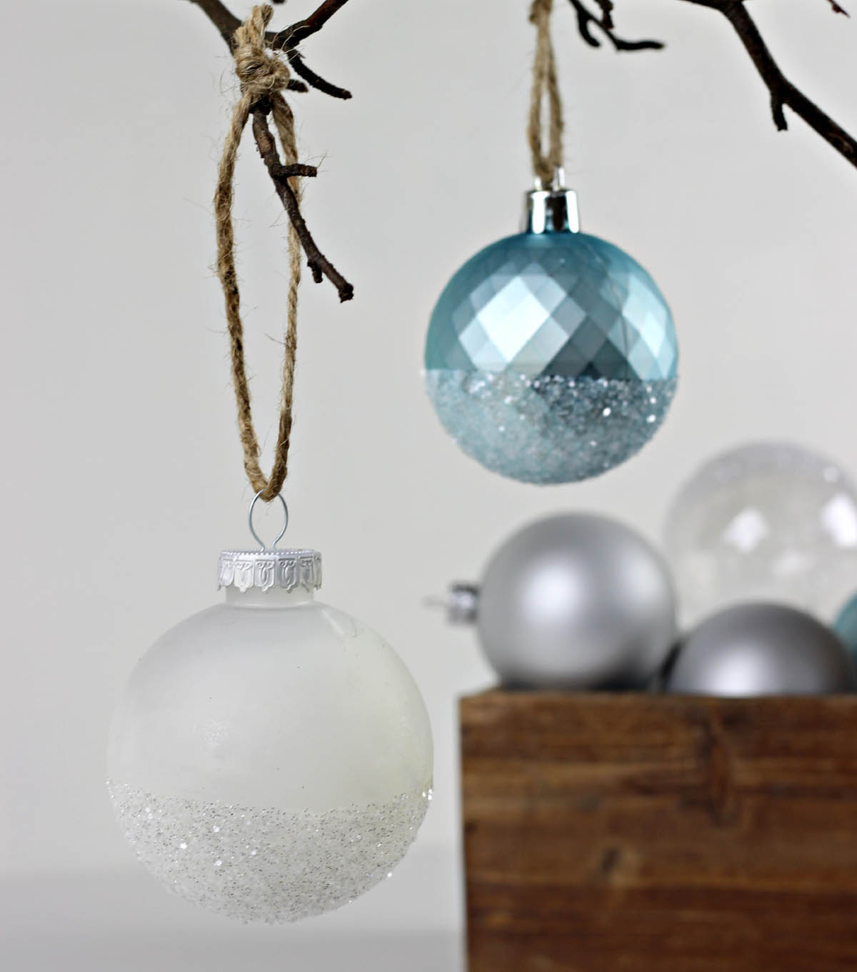 Glitter Dipped Ball Ornament