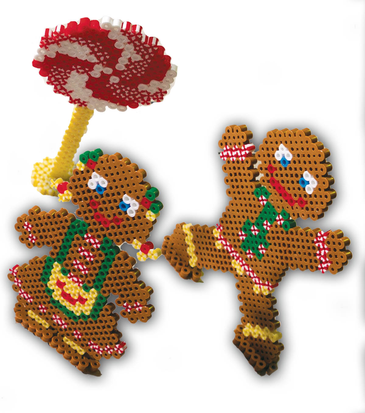 Fusible Beads Gingerbread Kids