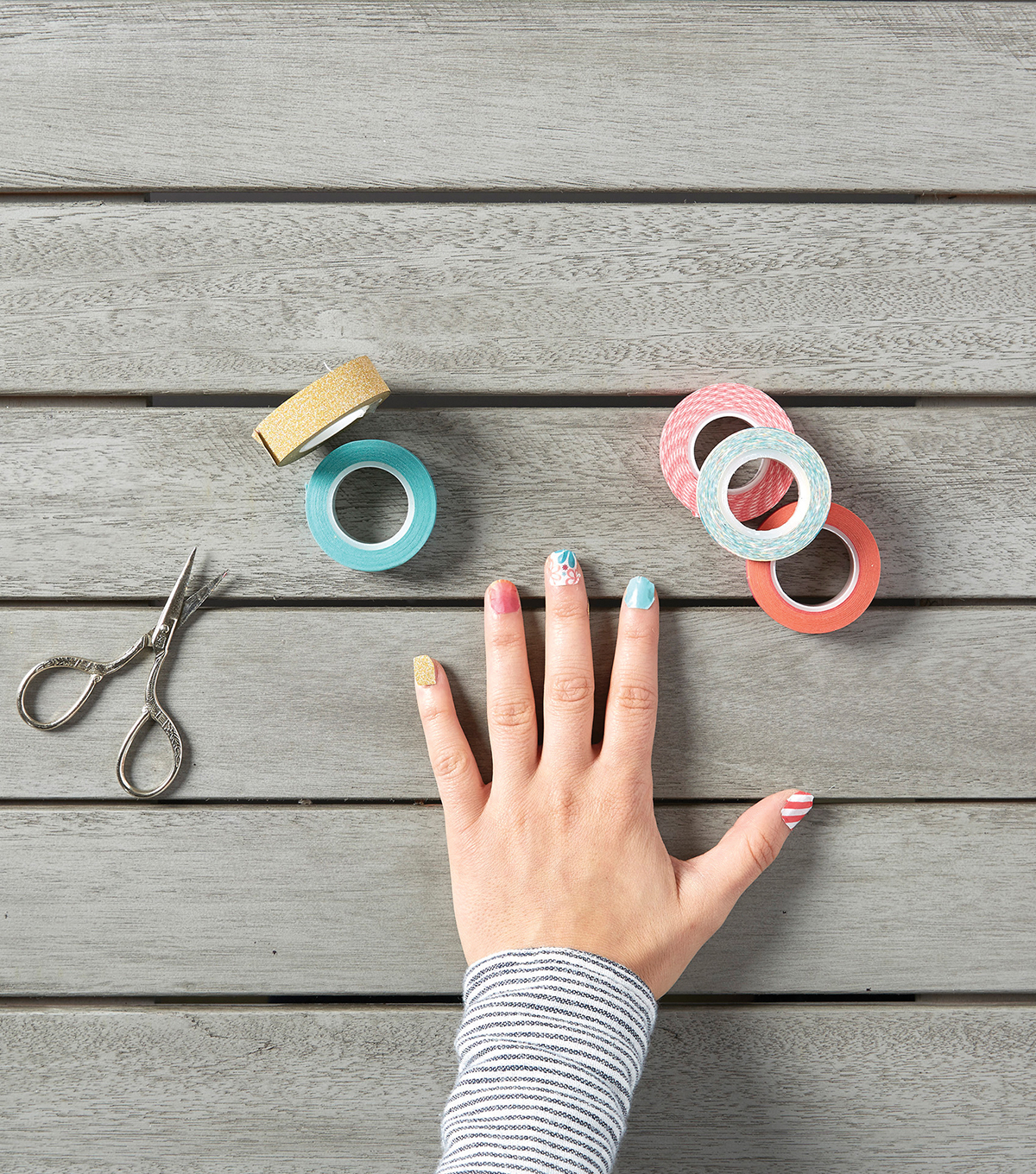 Create Washi Tape Nail Designs Joann