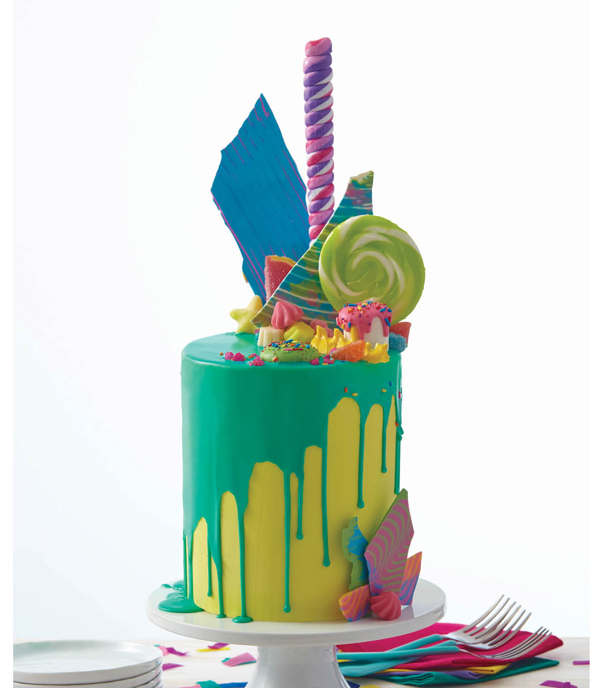 How To Make A Bold And Bright Candy Explosion Cake Joann