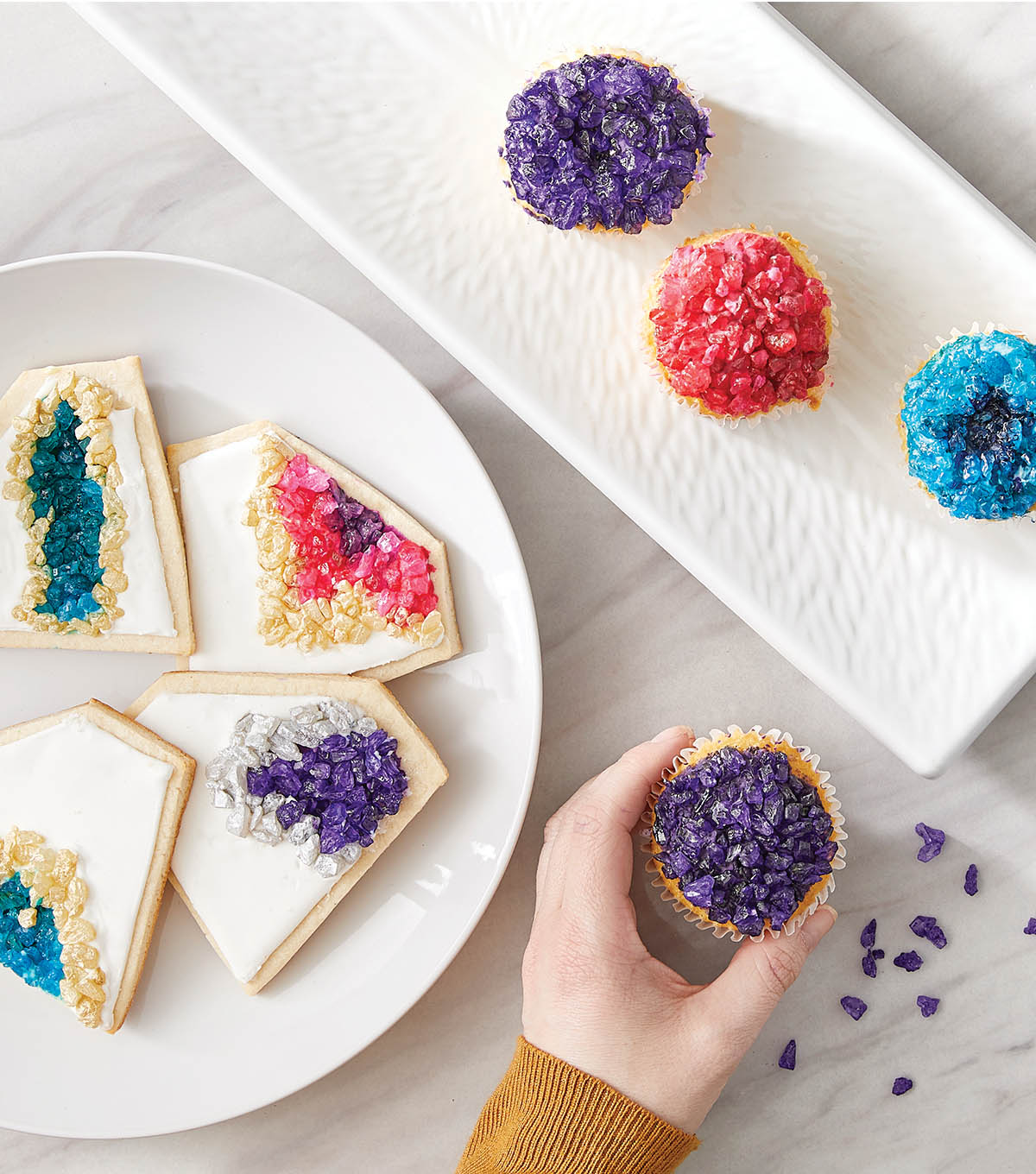 How To Make Geode Cupcakes and Cookies