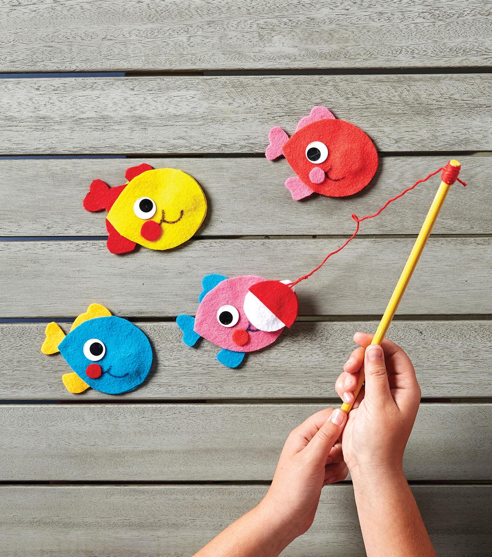 Image result for felt magnetic fishing game diy