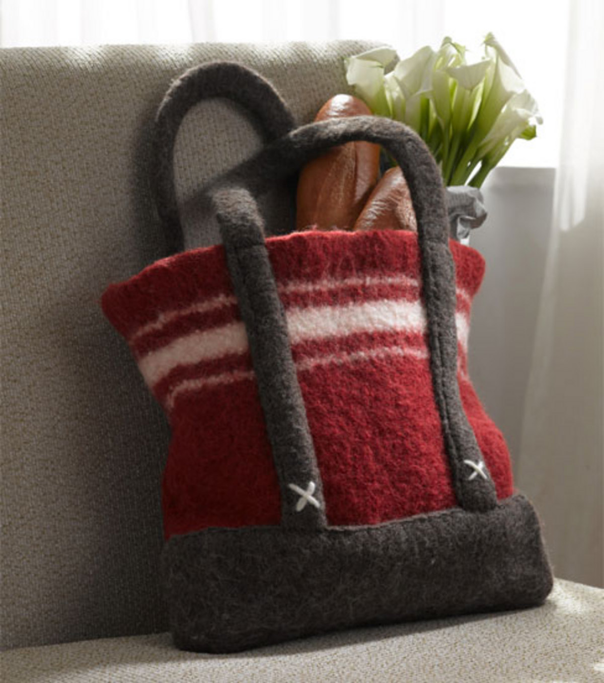 Loom & Knit Felted Bag