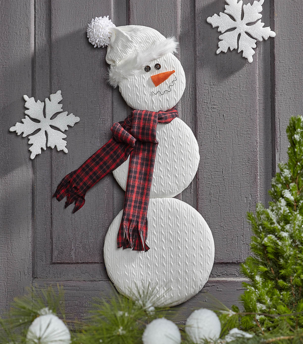 by Artiste SNOWMAN Felt Christmas DIY Stocking Sew Applique/' Kit